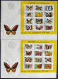 ROMANIA 1991 - FLUTURI, 2 FDC-URI - RO 0061