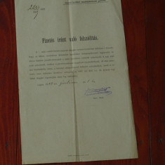 Document act vechi in Limba maghiara 1909 - Pasaport/Document