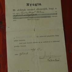 Document act Limba maghiara din Banat cu stampila anul 1899 !!! - Pasaport/Document