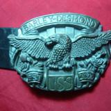 Catarama de curea motociclist - Barley Desmond USA ,metal , L= 7,5 cm