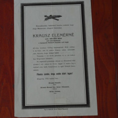 Act Limba maghiara din Banat judetul Caras anul 1935 !!! - Pasaport/Document