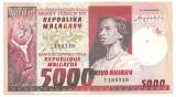 MADAGASCAR MALAGACHE MALAGASY 5000 FRANCI FRANCS 1000 ARIARY ND (1974) F