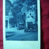 Ilustrata -Sinaia - Castelul Peles -Sala Florentina, interbelica, colectia Stefanovici - Carte Postala Muntenia dupa 1918