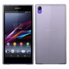 Husa gri subtire Sony Xperia Z1 L39H + folie protectie ecran + expediere gratuita Posta - Husa Telefon Sony, Plastic