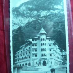 Ilustrata Baile Herculane -Hotel Cerna, circ. 1945, cenzurata - Carte Postala Banat dupa 1918