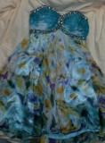 Superba rochie seara sau coctail TONY BOWLS mas M, Bleu, Midi