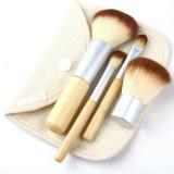 Set / Trusa / Kit 4 Pensule Machiaj ECOTOOLS Maner Din Bambus