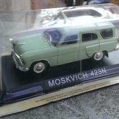 Macheta Moskvitch 423N 1960 +revista DeAgostini Masini de Legenda 48