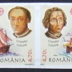 LOT TIMBRE ROMANIA - 50 DE ANI EUROPA COLUMB - RO 0072