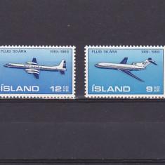 Aviatie transport, Islanda. - Timbre straine