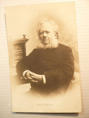 Ilustrata - Personalitati - H.Ibsen ,Franta , interbelica foto