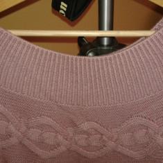 Pulover gros, evazat, culoarea lila - Pulover dama Victoria S Secret, Marime: L, Lana