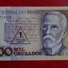 Bancnota straina - Brasil 1000 Mil Cruzados Cu supratipar #542