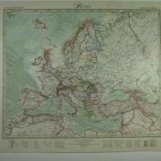 HARTA VECHE - EUROPA - DIN STIELERS HAND ATLAS - 1928/29