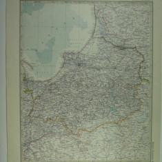 HARTA VECHE - PRUSIA ORIENTALA - DIN STIELERS HAND ATLAS - 1928/29