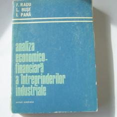 ANALIZA ECONOMICO FINANCIARA A INTREPRINDERILOR INDUSTRIALE - RADU ,BUSE, PANA, Alta editura