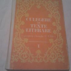 CULEGERE DE TEXTE LITERARE PENTRU CLASELE V-VIII DE VASILE TEODORESCU,EDITURA DIDACTICA 1983