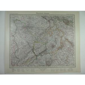 HARTA VECHE - RHEILAND - HESSEN - DIN STIELERS HAND ATLAS - 1928