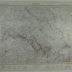 HARTA VECHE - SCHLESIEN - SILEZIA - DIN STIELERS HAND ATLAS - 1928/9