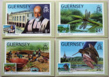 GUERNSEY - PASARI, INSECTE, ARHEOLOGIE, 4 ILUSTRATE MAXIME, OBLITERATE - IM 0382