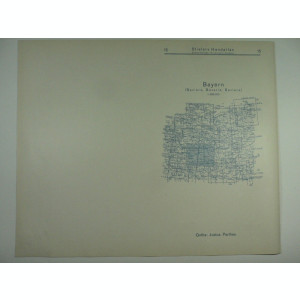HARTA VECHE - BAYERN - DIN STIELERS HAND ATLAS - 1928/29
