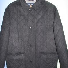 Palton stofa lana, trei sferturi, marimea XXL, fabricat in Italia - Palton barbati, Culoare: Antracit