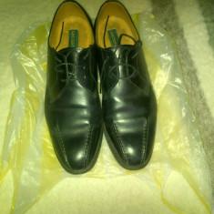 Pantofi barbatesti - Pantofi barbati George, Marime: 42 1/3, Culoare: Negru, 42 1/3, Piele naturala, Din imagine
