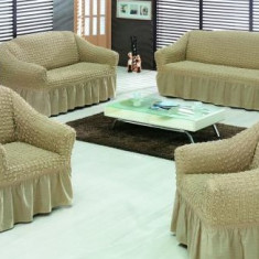 HUSA CANAPEA - SET 1 canapea de 3p si 1 canapea de 2p si 1 fotolii - accesoriu mobila