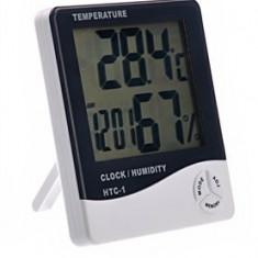Ceas cu termometru si higrometru digital HTC-1 - Ceas led