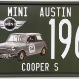 Placuta (placa) de inmatriculare decorativa - numar de inmatriculare - Mini Cooper - - Metal/Fonta