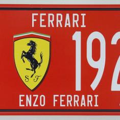 Placuta (placa) de inmatriculare decorativa - numar de inmatriculare - Ferrari -