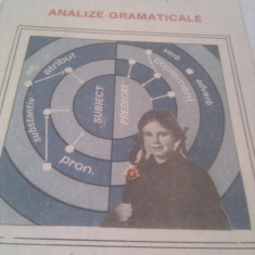 ANALIZE GRAMATICALE DE AUREL NICOLESCU, EDITURA ION CREANGA 1990, COLECTIA LECTURA SCOLARA - Culegere Romana