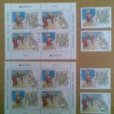 ROMANIA(C005)-2014-LP. 2021 - EUROPA - pereche de blocuri + 2 serii stampilate, Stampilat