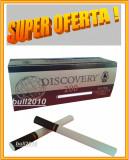 5 X TUBURI TIGARI DISCOVERY ,  tigari negre pentru injectat tutun filtru negru