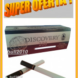 5 X TUBURI TIGARI DISCOVERY, filtre 1.000 tuburi tigari pentru injectat tutun - Foite tigari