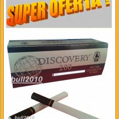 5 X TUBURI TIGARI DISCOVERY, tigari negre pentru injectat tutun filtru negru - Foite tigari