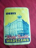 Eticheta Reclama -Hotel Bristol - Warsovia ,interbelica , 7,5x10,5 cm