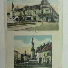 CAMPULUNG - MUSCEL - HOTELUL REGAL - MONUMENTUL EROILOR - STAMPILA DE CENZURA CAMPULUNG MUSCEL 2 - Carte Postala Muntenia 1904-1918