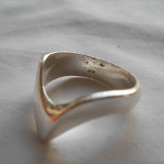 Inel argint Vechi Clasic Finut elegant RETRO patina frumoasa executat manual