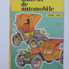 Muzeul de automobile, carte colorat 1979, Theodora Florea. - Carte de colorat