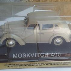 Macheta metal DeAgostini Moskvitch 400 noua+revista Masini de Legenda nr.43 - Macheta auto, 1:43