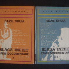 BAZIL GRUIA - BLAGA INEDIT EFIGII DOCUMENTARE 2 volume