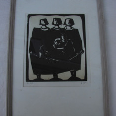 Frumoasa grafica pe carton (2) - Tablou autor neidentificat