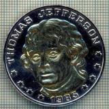 ATAM2001 MEDALIE 365 - THOMAS JEFFERSON - 1985 - 185TH ANIVERSARY 1800-1985 - STATELE UNITE ALE AMERICII - starea care se vede