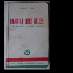 C.H. Niculescu, Gramatica limbii italiene. Curs practic de limba italiana, Editura