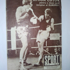 Revista SPORT Nr. 6 / 1975 Simion Cutov, campion al Europei - Dudu Georgescu BOX