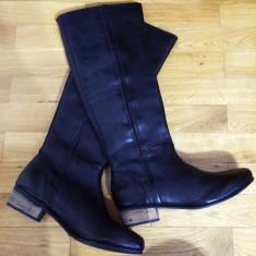 Asos Leather Boots – 200 Ron - Cizma dama Asos, Culoare: Negru, Marime: 39, 40, Piele naturala, Negru, Marime: 39