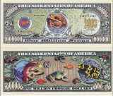USA 1 Million Dollars Broasca UNC