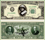 USA 1 Million Dollars II Razboi Mondial UNC