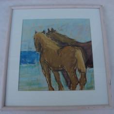 Impesionanta pictura pe carton realizata de artista suedeza Ewa Hybbinette - Pictor strain